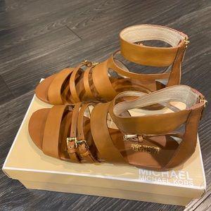 MICHAEL Michael Kors Winston Flat Sandals, Brown